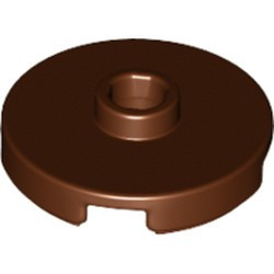 Reddish Brown Tile, Round 2 x 2 with Open Stud