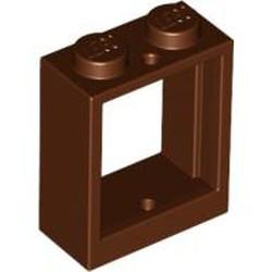 Reddish Brown Window 1 x 2 x 2 Flat Front - used