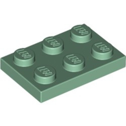 Sand Green Plate 2 x 3 - new