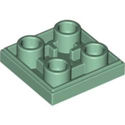 Sand Green Tile, Modified 2 x 2 Inverted - new