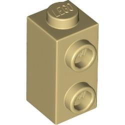 Tan Brick, Modified 1 x 1 x 1 2/3 with Studs on 1 Side
