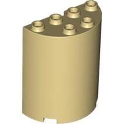 Tan Cylinder Half 2 x 4 x 4
