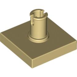Tan Tile, Modified 2 x 2 with Pin
