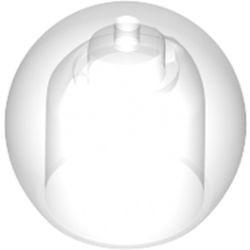 Trans-Clear Minifigure, Headgear Helmet Round Fishbowl