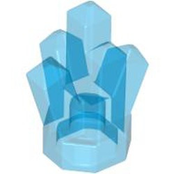 Trans-Dark Blue Rock 1 x 1 Crystal 5 Point