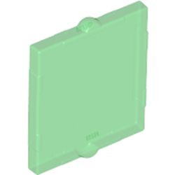 Trans-Green Glass for Window 1 x 2 x 2 Flat Front