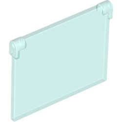 Trans-Light Blue Glass for Window 1 x 4 x 3 - Opening - new