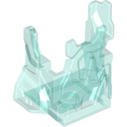 Trans-Light Blue Rock Panel 2 x 4 x 3 with Fractures (Chima Ice Cage) - used