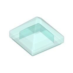 Trans-Light Blue Slope 45 1 x 1 x 2/3 Quadruple Convex Pyramid