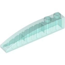 Trans-Light Blue Slope, Curved 6 x 1