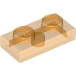 Trans-Orange Plate 1 x 2 - used