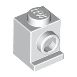 White Brick, Modified 1 x 1 with Headlight - new
