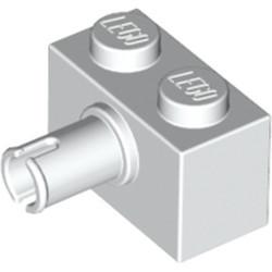 White Brick, Modified 1 x 2 with Pin
