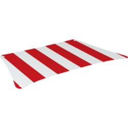 White Cloth Sail 36 x 20 Bottom with Red Thick Stripes Pattern - new