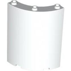 White Cylinder Quarter 4 x 4 x 6 - new