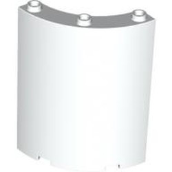 White Cylinder Quarter 4 x 4 x 6