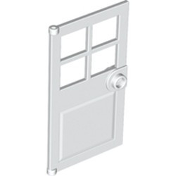 White Door 1 x 4 x 6 with 4 Panes and Stud Handle - new