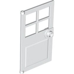 White Door 1 x 4 x 6 with 4 Panes and Stud Handle