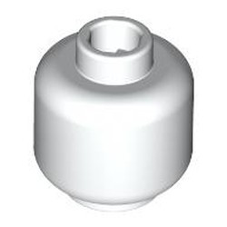 White Minifigure, Head (Plain) - Hollow Stud - new
