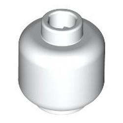 White Minifigure, Head (Plain) - new - Hollow Stud