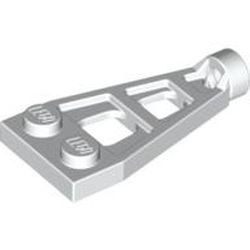 White Plate, Modified 1 x 2 with Long Stud Receptacle (Space Wing)