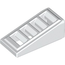 White Slope 18 2 x 1 x 2/3 with 4 Slots