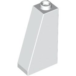 White Slope 75 2 x 1 x 3 - Open Stud