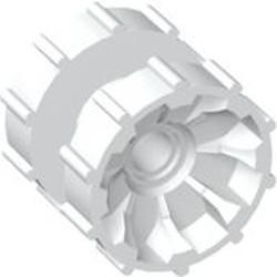 White Technic Tread Hub - used