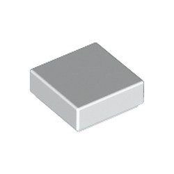 White Tile 1 x 1 with Groove