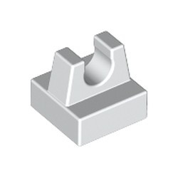 White Tile, Modified 1 x 1 with Clip
