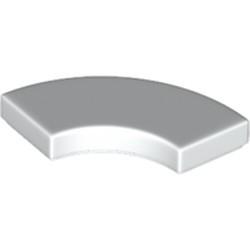 White Tile, Round Corner 2 x 2 Macaroni - new