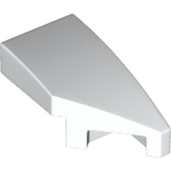 White Wedge 2 x 1 with Stud Notch Right - new