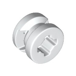White Wheel 8mm D. x 6mm with Slot