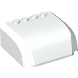 White Windscreen 5 x 6 x 2 Curved Top Canopy with 4 Studs