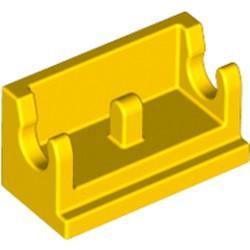 Yellow Hinge Brick 1 x 2 Base - used