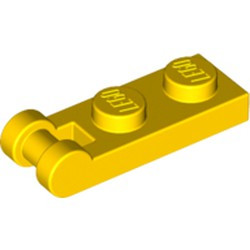 Yellow Plate, Modified 1 x 2 with Bar Handle on End - Closed Ends