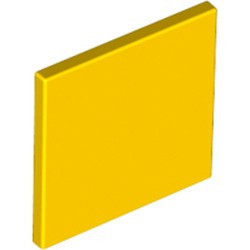 Yellow Road Sign 2 x 2 Square with Clip - used