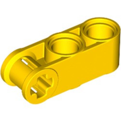 Yellow Technic, Axle and Pin Connector Perpendicular 3L with 2 Pin Holes - new