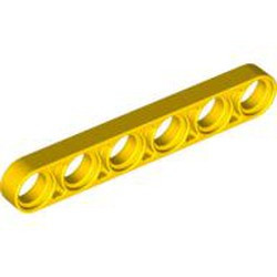 Yellow Technic, Liftarm 1 x 6 Thin - new
