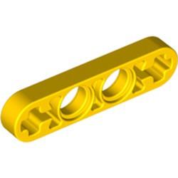 Yellow Technic, Liftarm Thin 1 x 4 - Axle Holes