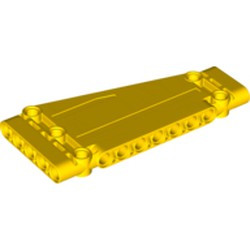 Yellow Technic, Panel Plate 5 x 11 x 1 Tapered - new