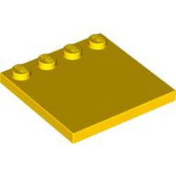 Yellow Tile, Modified 4 x 4 with Studs on Edge - used