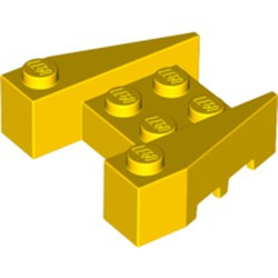 Yellow Wedge 3 x 4 with Stud Notches