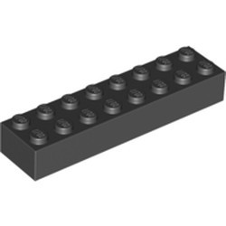Black Brick 2 x 8 - new