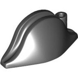 Black Minifigure, Headgear Hat, Pirate Bicorne Plain - used