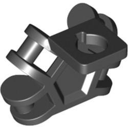 Black Minifigure Neck Bracket with 4 Angled Handles