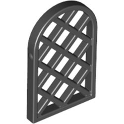 Black Pane for Window 1 x 2 x 2 2/3 Lattice Diamond with Rounded Top - used
