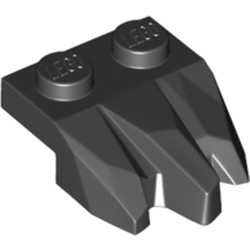 Black Plate, Modified 1 x 2 with 3 Claws / Rock Fingers - new