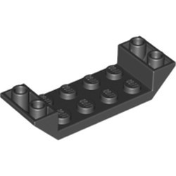 Black Slope, Inverted 45 6 x 2 Double with 2 x 4 Cutout