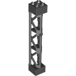 Black Support 2 x 2 x 10 Girder Triangular Vertical - Type 4 - 3 Posts, 3 Sections - new